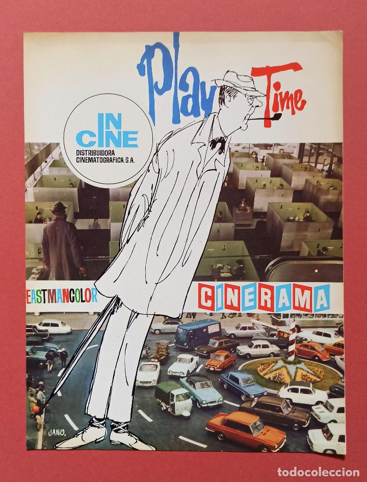 PLAYTIME. JACQUES TATI. GUIA ORIGINAL DEL ESTRENO 1968 (Cine - Guías Publicitarias de Películas )