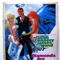 Cine: JAMES BOND 007: DIAMONDS ARE FOREVER, SEAN CONNERY - GUIA JAPONESA - JAPAN PRESSBOOK 1971 BPY. Lote 243047975