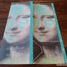 Cine: LISTA DE MATERIAL ALTA FILMS - LANZAMIENTOS AÑOS 1992/93 PARA QUE VEAS. Lote 243062335