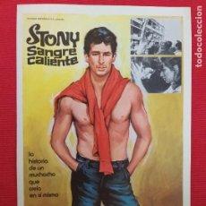 Cine: GUIA: STONY, SANGRE CALIENTE. CON: PAUL SORVINO, TONY LO BIANCO. Lote 243110565