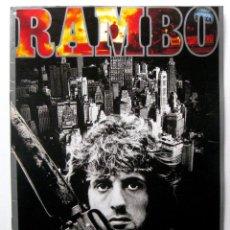 Cine: FIRST BLOOD (ACORRALADO) RAMBO, SYLVESTER STALLONE - GUIA JAPONESA - JAPAN PRESSBOOK 1982 BPY. Lote 243128080