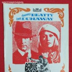 Cine: GUIA: BONNIE Y CLYDE. WARREN BEATTY, FAYE DUNAWAY, GENE HACKMAN. PROCINES. AÑO 1978. Lote 243519675