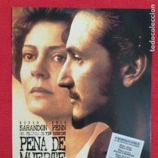 Cine: GUIA: PENA DE MUERTE. CON: SUSAN SARANDON, SEAN PEEN. Lote 243519830