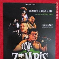 Cine: GUIA ORIGINAL: UNA DE ZOMBIS. COMEDIA. SANTIAGO SEGURA. CINE ESPAÑOL. Lote 243520405
