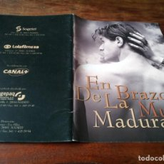 Cine: EN BRAZOS DE LA MUJER MADURA - JUAN DIEGO BOTTO, FAYE DUNAWAY - GUIA ORIGINAL LUJO SOGEPAQ 1997. Lote 243880695