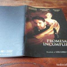 Cine: PROMESAS INCUMPLIDAS - KENNETH BRANAGH,MADELEINE STOWE,WILLIAM HURT - GUIA ORIGINAL LUJO SOGEPAQ1998. Lote 243899860