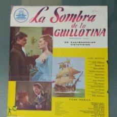 Cine: LA SOMBRA DE LA GUILLOTINA - GUIA PUBLICITARIA DE CINE. Lote 243912535