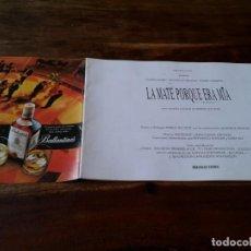 Cine: LA MATÉ PORQUE ERA MÍA TANGO - PHILIPPE NOIRET,THIERRY LHERMITTE - GUIA ORIGINAL LUJO SURFFILMS 1993. Lote 244598735