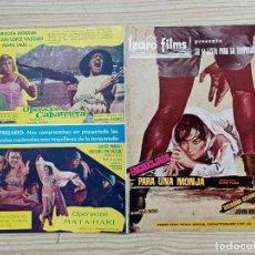 Cine: FOLLETO DE CINE IZARO FILMS PRESENTA SU 1ª LISTA PARA LA TEMPORADA 1968-69. Lote 244598845