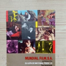Cine: FOLLETO DE CINE MUNDIAL FILM, S.A. PRESENTA SU LISTA DE MATERIAL PARA LA TEMPORADA 1969-1970. Lote 244599025