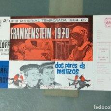 Cine: 2ª LISTA MATERIAL MAHIER - TEMPORADA 1964 - 1965. Lote 244604090