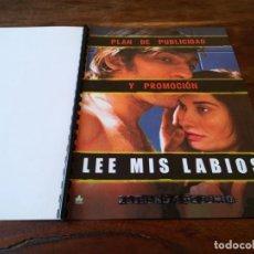 Cine: LEE MIS LABIOS - VINCENT CASSEL, EMMANUELLE DEVOS,JACQUES AUDIARD - GUIA ORIGINAL DOSSIER KARMA 2001. Lote 245281905