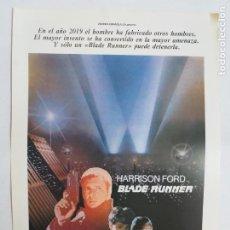 Cine: GUIA: BLADE RUNNER. HARRISON FORD. Lote 245615685