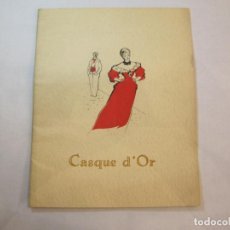 Cine: CASQUE D'OR-SIMONE SIGNORET-SERGE REGGIANI-LIBRO REVISTA DE LA PELICULA-VER FOTOS-(V-22.561). Lote 245640915