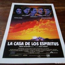 Cinema: LA CASA DE LOS ESPÍRITUS - JEREMY IRONS, MERYL STREEP, GLENN CLOSE - GUIA ORIGINAL LAUREN 1993. Lote 245718125