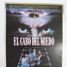 Cine: GUIA PUBLICITARIA: EL CABO DEL MIEDO. MARTIN SCORSESE, ROBERT DE NIRO. Lote 245946780