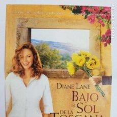 Cine: GUIA PUBLICITARIA: BAJO EL SOL DE LA TOSCANA. DIANE LANE.. Lote 245947660
