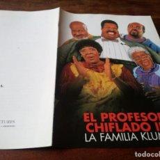 Cine: EL PROFESOR CHIFLADO II FAMILIA KLUMP - EDDIE MURPHY, JANET JACKSON - GUIA ORIGINAL LUJO U.I.P 1996. Lote 246161875