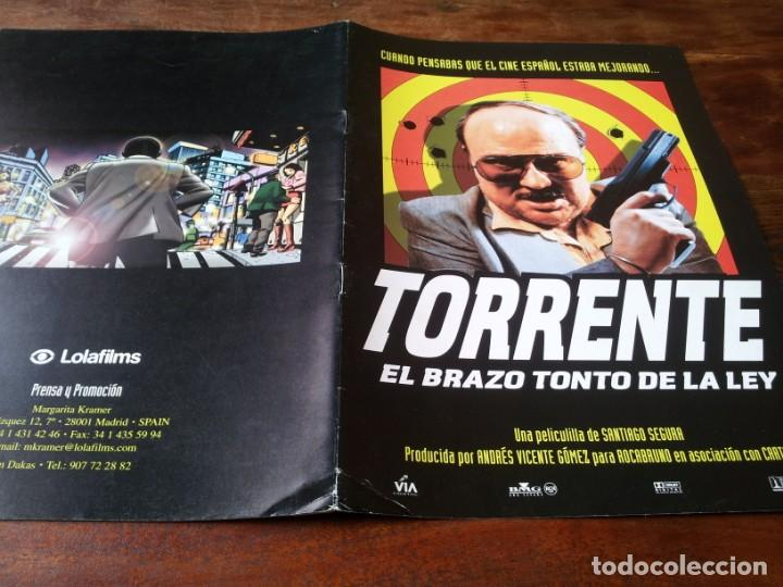 TORRENTE EL BRAZO TONTO DE LA LEY - TONY LEBLANC, JAVIER CAMARA,S. SEGURA - GUIA ORIGINAL LUJO 1998 (Cine - Guías Publicitarias de Películas )