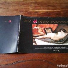 Cine: EL REY PASMADO - GABINO DIEGO, JUAN DIEGO, IMANOL URIBE - GUIA ORIGINAL LUJO GOLEM 1991. Lote 246341825