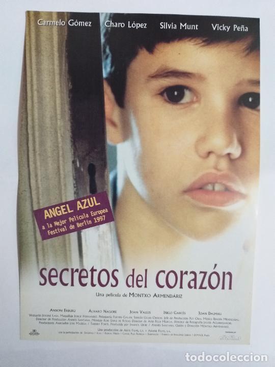 GUIA: SECRETOS DEL CORAZÓN. CARMELO GÓMEZ, CHARO LÓPEZ, SILVIA MUNT, VICKY PEÑA (Cine - Guías Publicitarias de Películas )