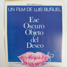 Cine: GUIA PUBLICITARIA. ESE OSCURO OBJETO DEL DESEO. LUIS BUÑUEL. CON FERNANDO REY, ANGELA MOLINA. Lote 247663280