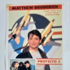 Cine: GUIA: PROYECTO X. MATTHEW BRODERICK. Lote 248053215