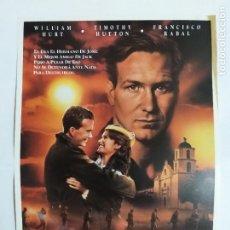 Cine: GUIA: LA FUERZA DEL DESTINO. A TIME OF DESTINY.GREGORY NAVA, WILLIAM HURT, TIMOTHY HUTTON,PACO RABAL. Lote 248054590