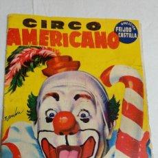Cine: PROGRAMA REVISTA ORIGINAL 1957 CIRCO AMERICANO. Lote 251230505