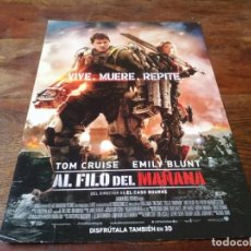 Cine: AL FILO DEL MAÑANA - TOM CRUISE,EMILY BLUNT,BILL PAXTON,BRENDAN GLEESON - GUIA ORIGINAL WARNER 2014. Lote 278415678