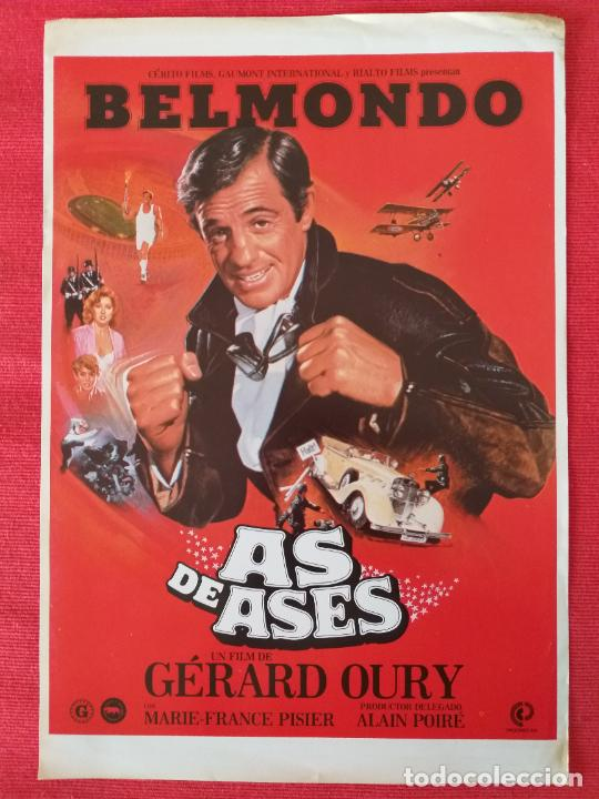 GUIA ORIGINAL. AS DE ASES. JEAN PAUL BELMONDO (Cine - Guías Publicitarias de Películas )