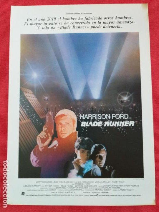 GUIA: BLADE RUNNER. HARRISON FORD, RIDLEY SCOTT. CIENCIA FICCION (Cine - Guías Publicitarias de Películas )