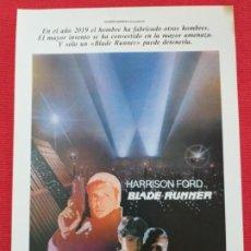 Cine: GUIA: BLADE RUNNER. HARRISON FORD, RIDLEY SCOTT. CIENCIA FICCION. Lote 253319535