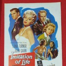 Cine: GUIA: IMITACION A LA VIDA. IMITATION OF LIFE. DOUGLAS SIRK, LANA TURNER JOHN GAVIN. Lote 253322555
