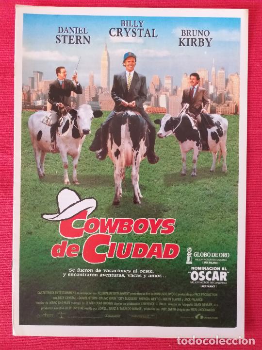 GUÍA PUBLICITARIA ORIGINAL DE LA PELÍCULA: COWBOYS DE CIUDAD. DANIEL STERN, BILLY CRISTAL, BRUNO K. (Cine - Guías Publicitarias de Películas )