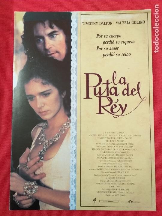 GUIA ORIGINAL DE LA PELÍCULA: LA PUTA DEL REY. LAUREN FILMS. TIMOTHY DALTON. (Cine - Guías Publicitarias de Películas )