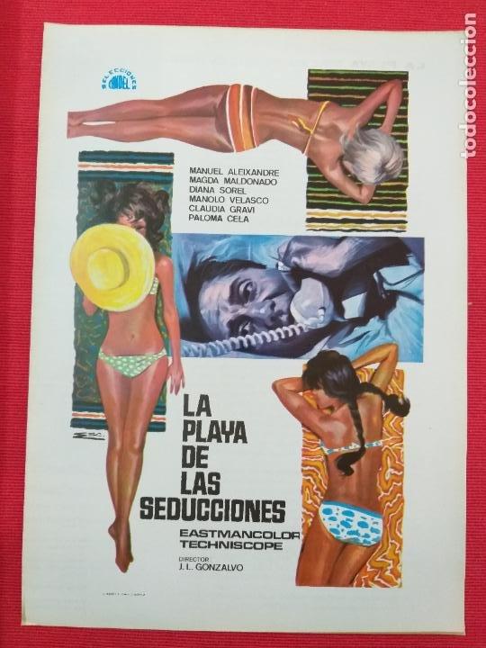 GUIA PUBLICITARIA: LA PLAYA DE LAS SEDUCCIONES. CON: MANUEL ALEIXANDRE, PALOMA CELA. (Cine - Guías Publicitarias de Películas )