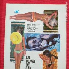 Cine: GUIA PUBLICITARIA: LA PLAYA DE LAS SEDUCCIONES. CON: MANUEL ALEIXANDRE, PALOMA CELA.. Lote 253870130