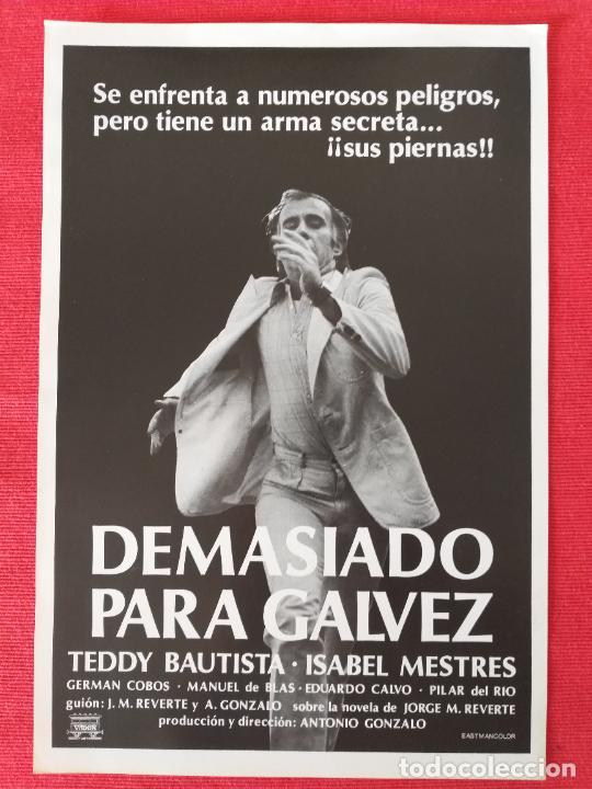 GUIA PUBLICITARIA: DEMASIADO PARA GÁLVEZ. CON: TESSY BAUTISTA, ISABEL MESTRES. (Cine - Guías Publicitarias de Películas )