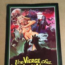 Cinema: UNE VIERGE CHEZ LES MORTS VIVANTS JESUS JESS FRANCO GUIA PUBLICITARIA CINE ORIGINAL ANTIGUA. Lote 254182670