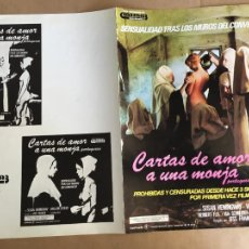Cinema: CARTAS DE AMOR UNA MONJA JESUS JESS FRANCO GUIA PUBLICITARIA CINE ORIGINAL ANTIGUA. Lote 254182750