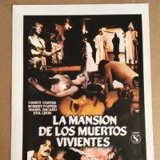 Cinema: LA MANSION DE LOS MUERTOS VIVIENTES JESUS JESS FRANCO GUIA PUBLICITARIA CINE ORIGINAL ANTIGUA. Lote 254183025