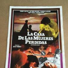 Cinema: LA CASA DE LAS MUJERES PERDIDAS JESUS JESS FRANCO GUIA PUBLICITARIA CINE ORIGINAL ANTIGUA. Lote 254183135