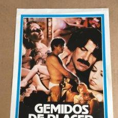 Cinema: GEMIDOS DE PLACER JESUS JESS FRANCO GUIA PUBLICITARIA CINE ORIGINAL ANTIGUA. Lote 254183440