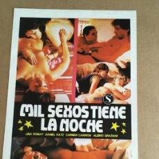 Cinema: MIL SEXOS TIENE LA NOCHE JESUS JESS FRANCO GUIA PUBLICITARIA CINE ORIGINAL ANTIGUA. Lote 254183505