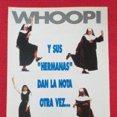 Cine: GUIA PUBLICITARIA: SISTER ACT 2: DE VUELTA AL CONVENTO (WHOOPI GOLDBERG). Lote 254469510
