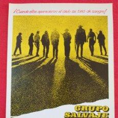 Cine: GUIA PUBLICITARIA: GRUPO SALVAJE. 1969. WILLIAM HOLDEN, ERNEST BORGNINE, ROBERT RYAN, BEN JOHNSON. Lote 255566065