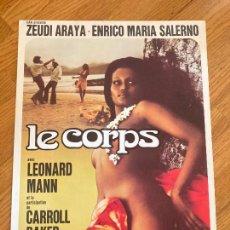 Cinéma: GUIA FRANCESA - LE CORPS - ZEUDI ARAYA / CARROL BAKER. Lote 255970515
