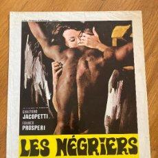 Cinéma: GUIA FRANCESA - LES NEGRIERS - JACOPETTI / PROSPERI. Lote 255971120