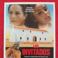 Cine: GUIA PUBLICITARIA ORIGINAL ESTRENO. LOS INVITADOS. CON: LOLA FLORES, AMPARO MUÑOZ.. Lote 257496155
